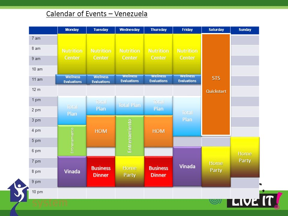 Calendar of Events – Venezuela