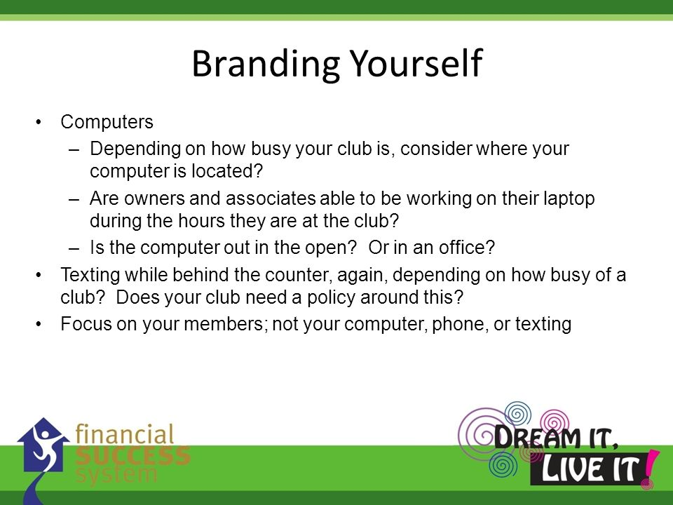 Branding Yourself Computers