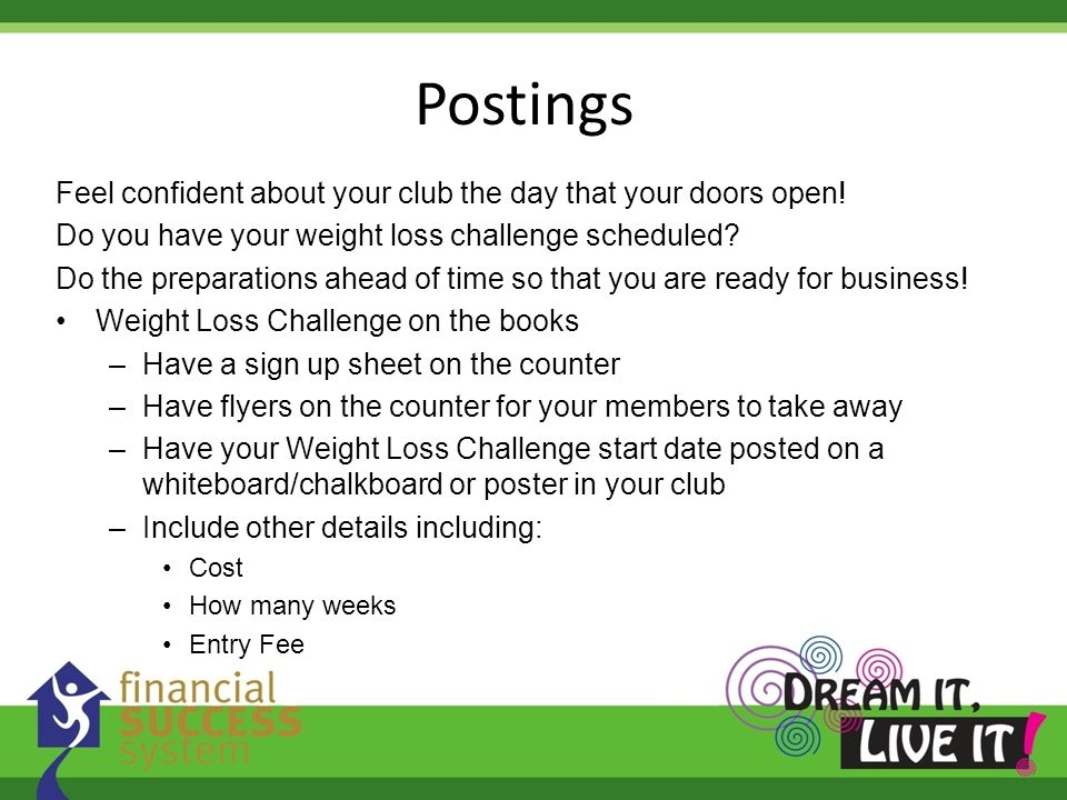 Postings Feel confident about your club the day that your doors open!