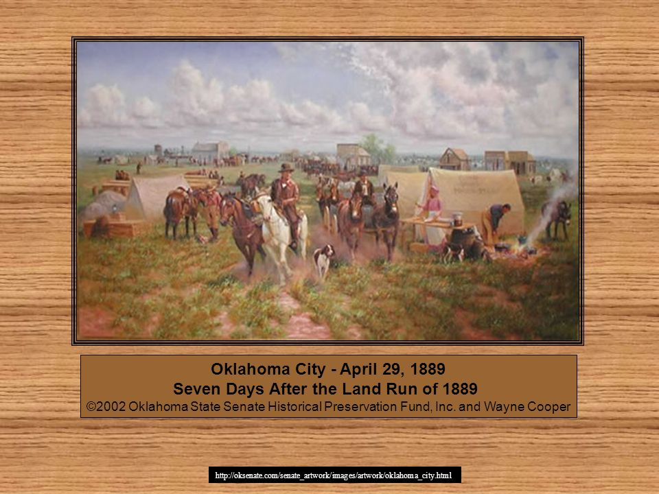 Oklahoma City - April 29, 1889 Seven Days After the Land Run of 1889