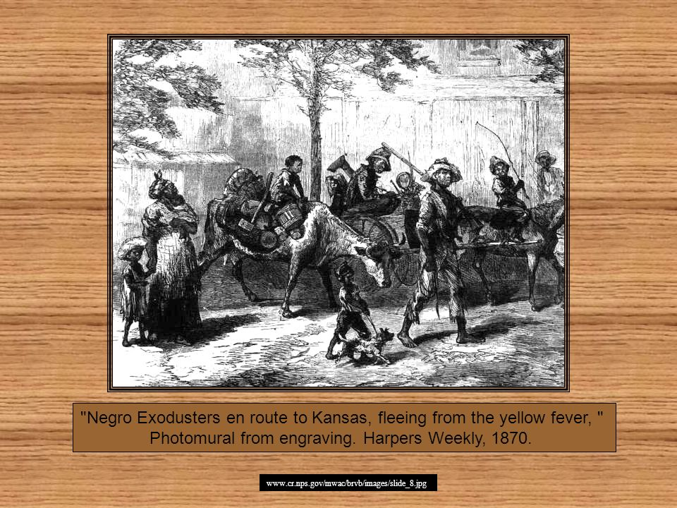 Negro Exodusters en route to Kansas, fleeing from the yellow fever,