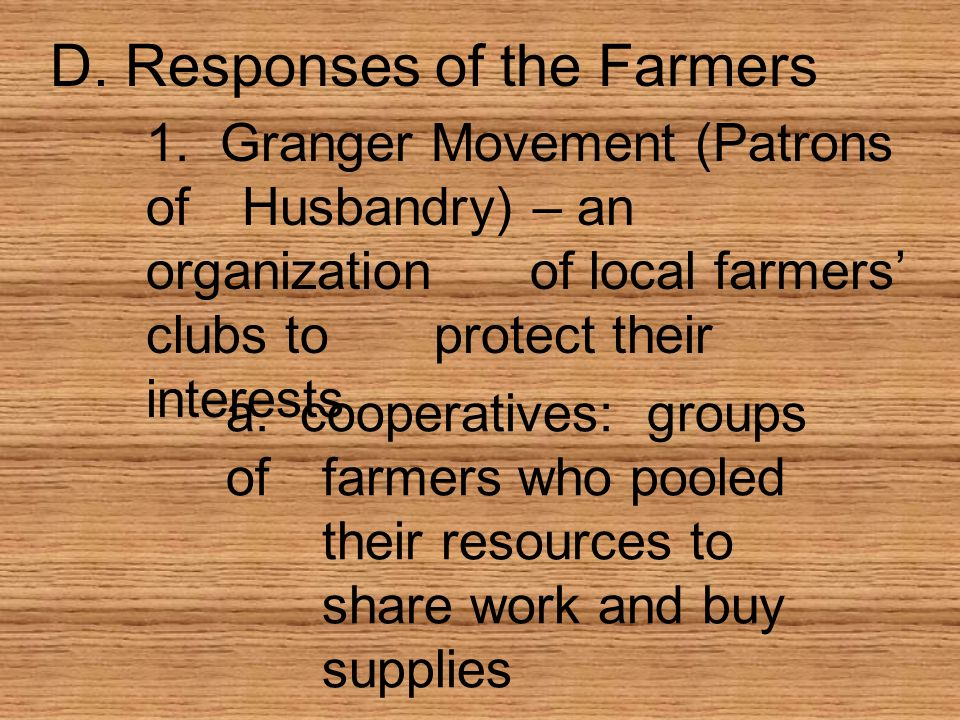 D. Responses of the Farmers