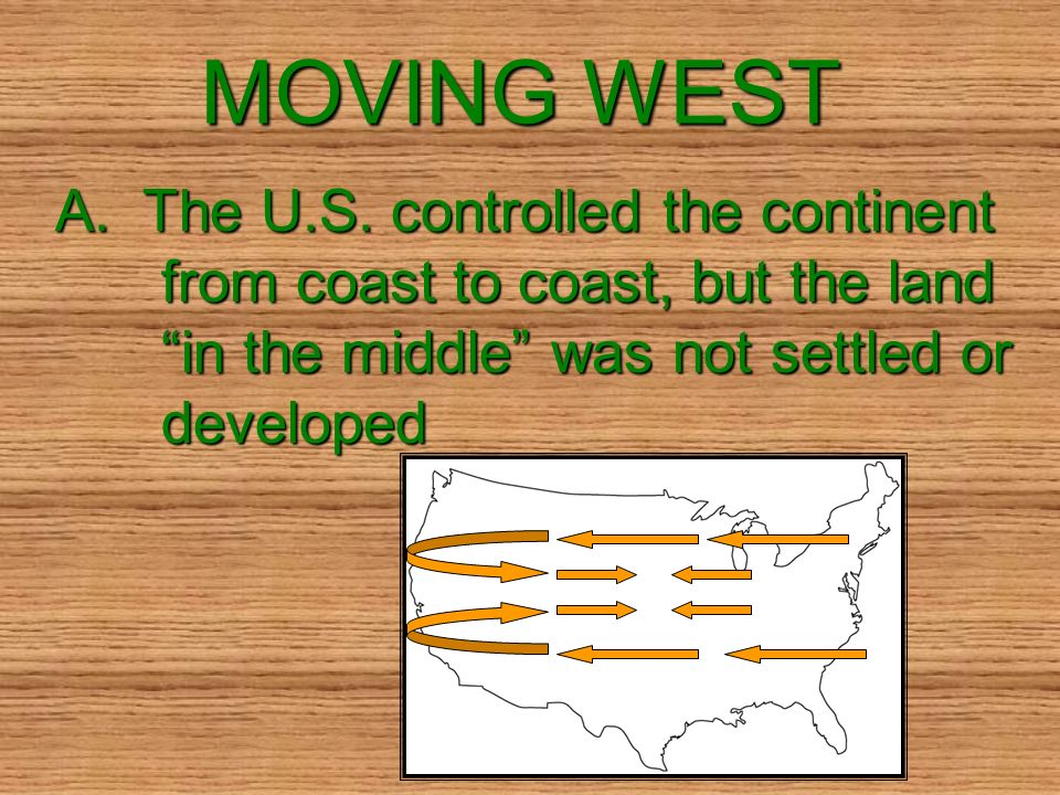 MOVING WEST A. The U.S.