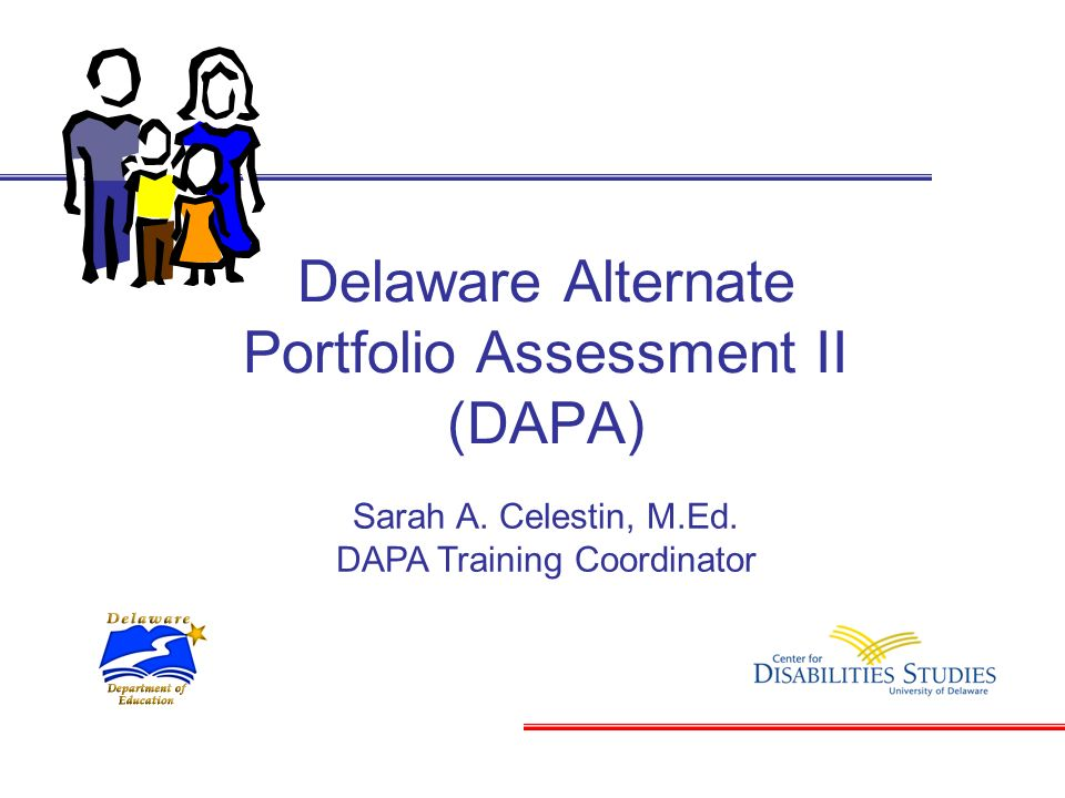 Delaware Alternate Portfolio Assessment II (DAPA)