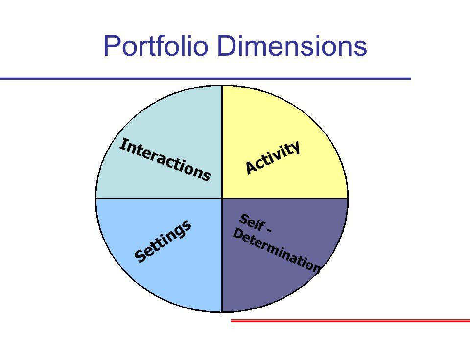 Portfolio Dimensions Activity Interactions Settings