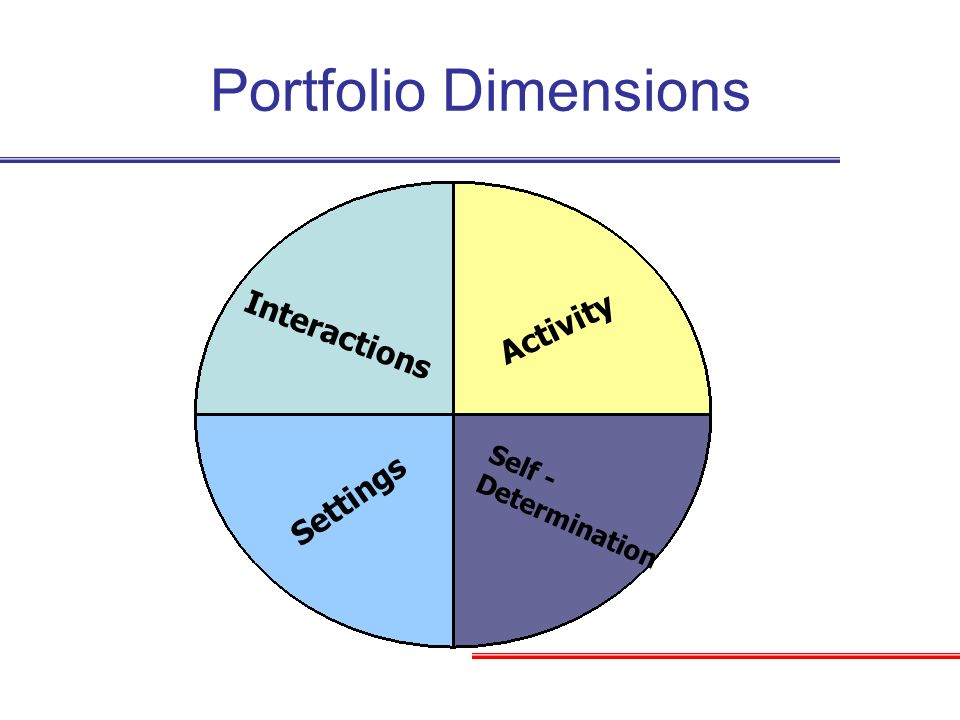 Portfolio Dimensions Activity Interactions Settings