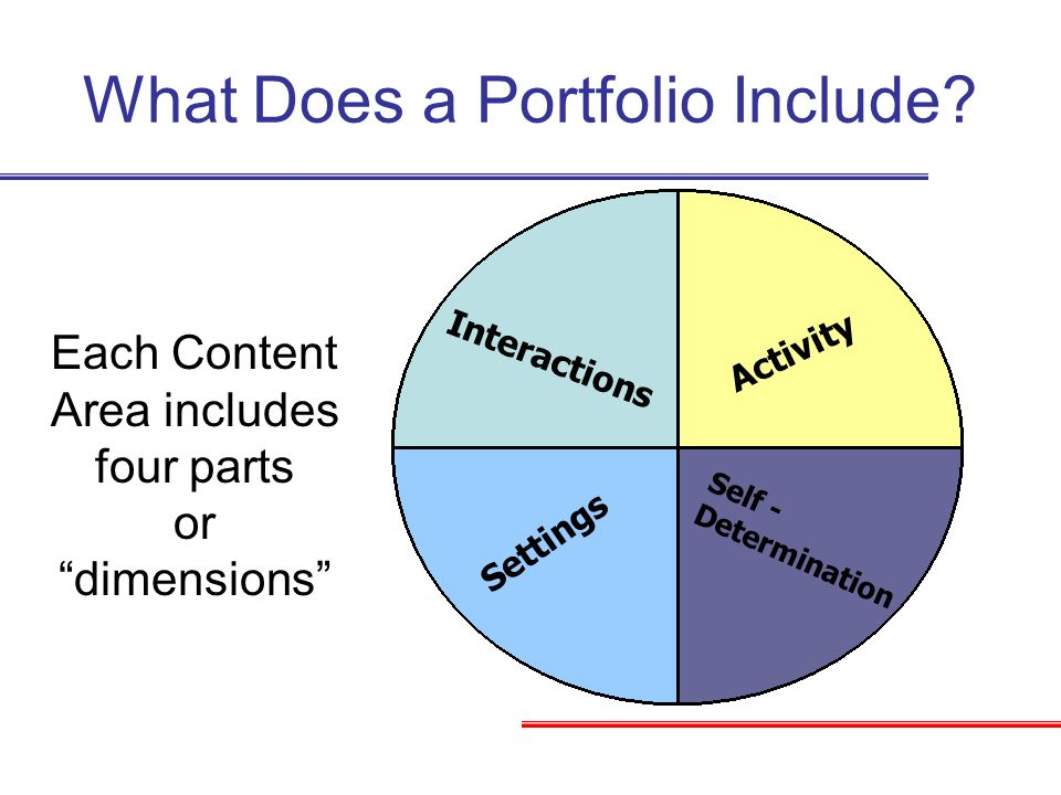 What Does a Portfolio Include