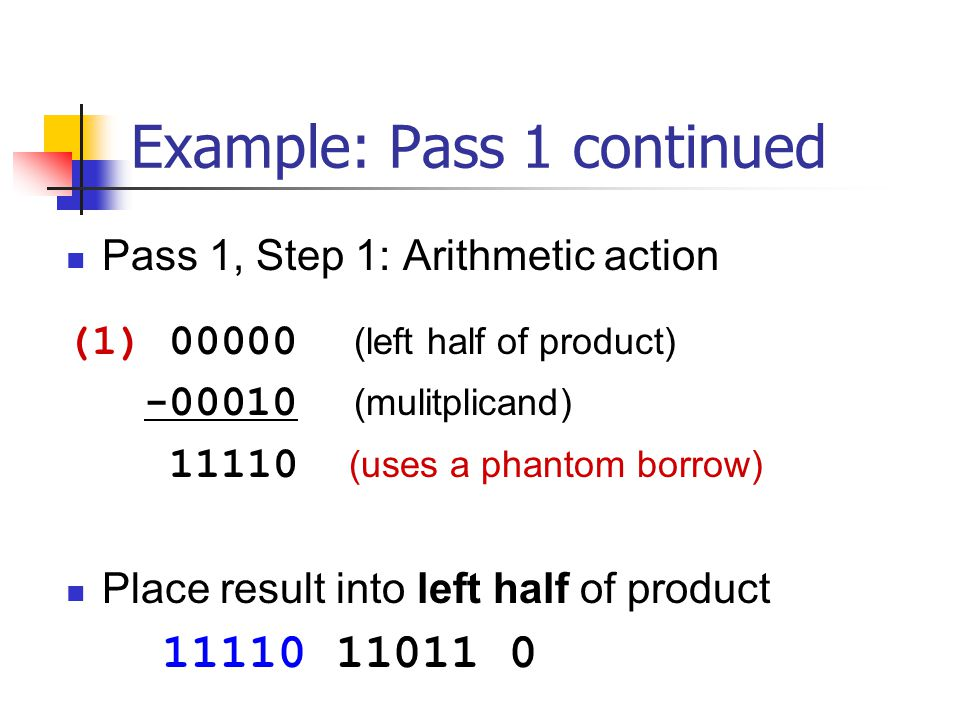 Example: Pass 1 continued