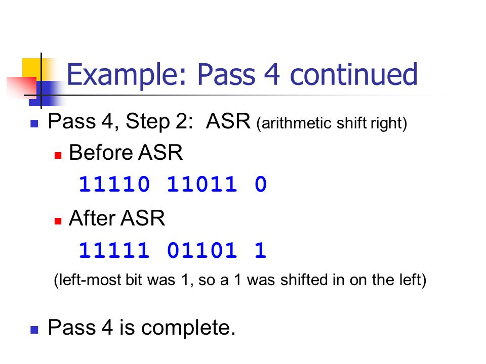 Example: Pass 4 continued