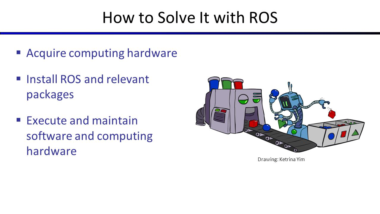 How to Solve It with ROS Acquire computing hardware