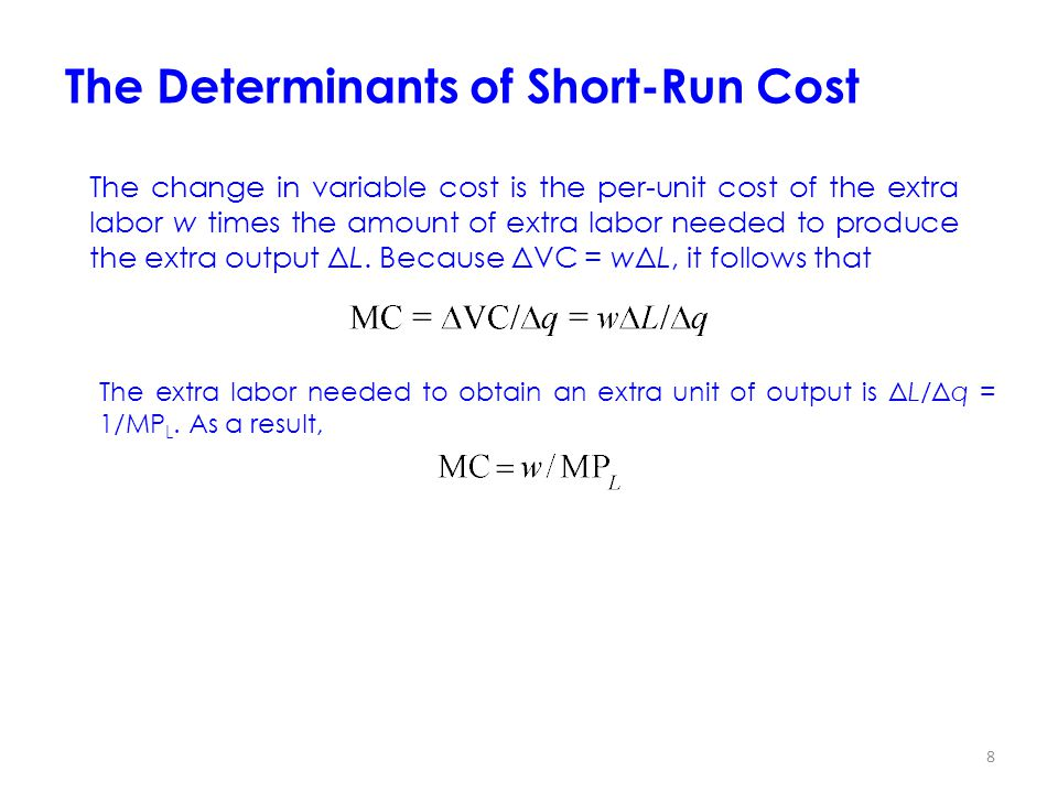 The Determinants of Short-Run Cost