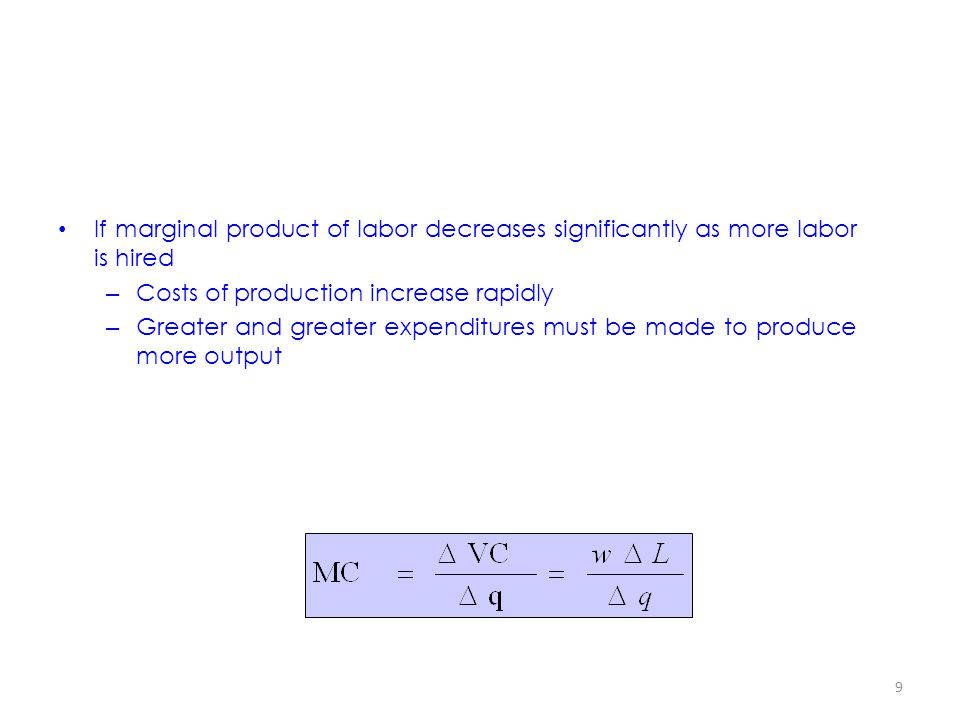 If marginal product of labor decreases significantly as more labor is hired