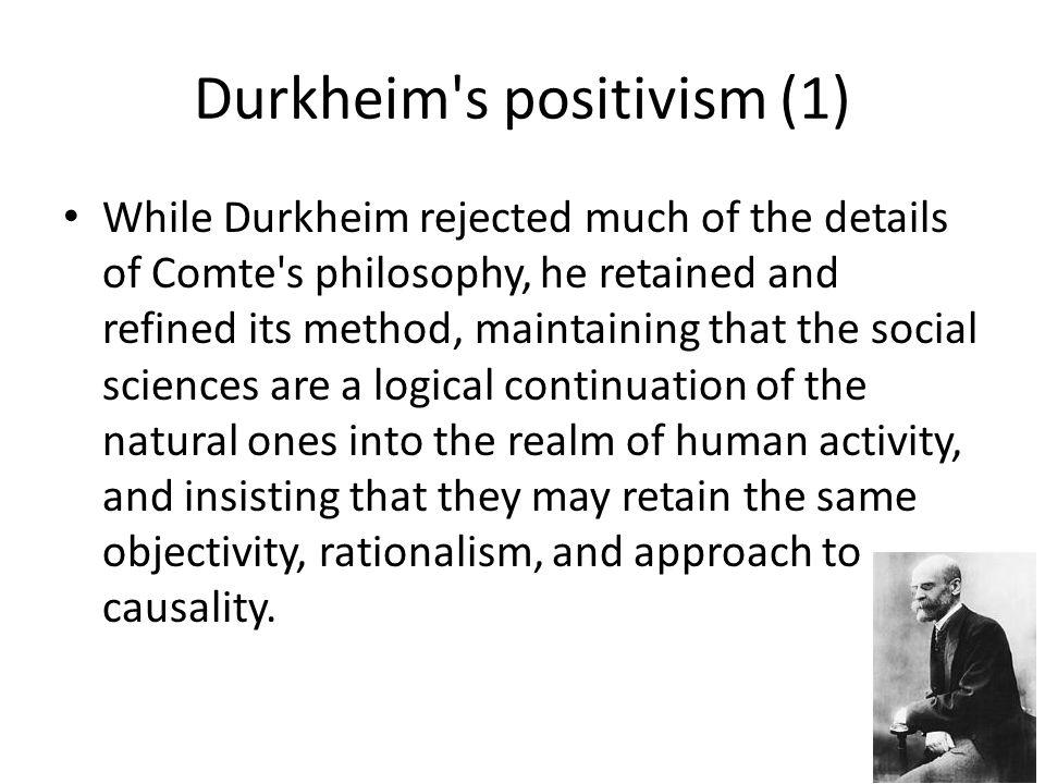 Durkheim s positivism (1)