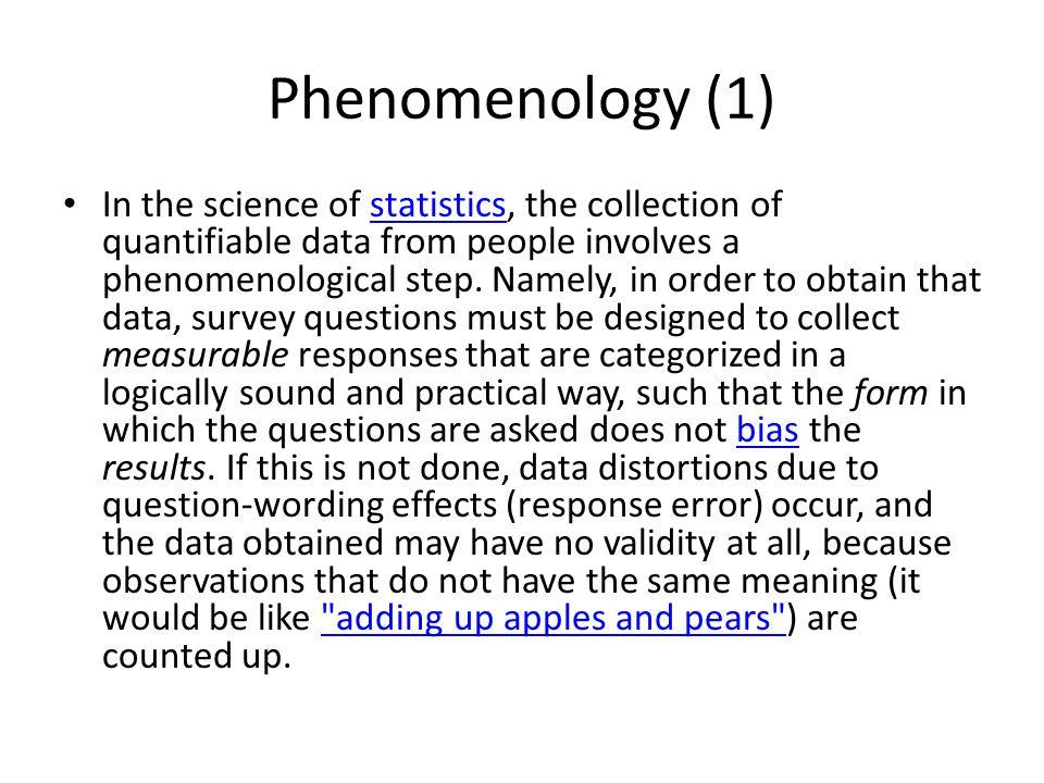 Phenomenology (1)