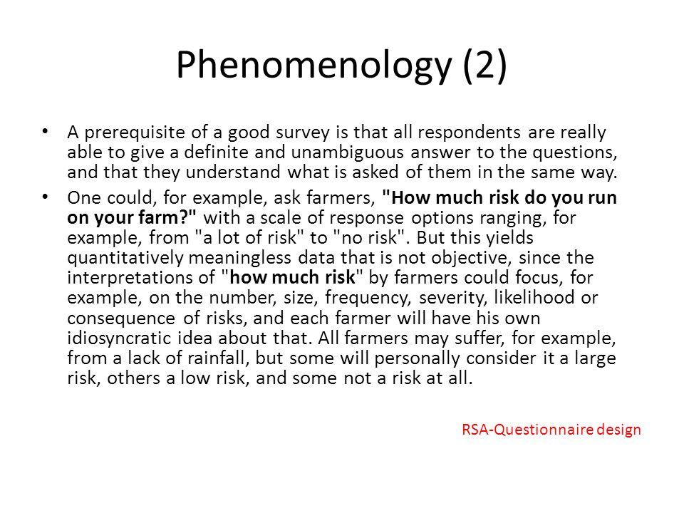 Phenomenology (2)