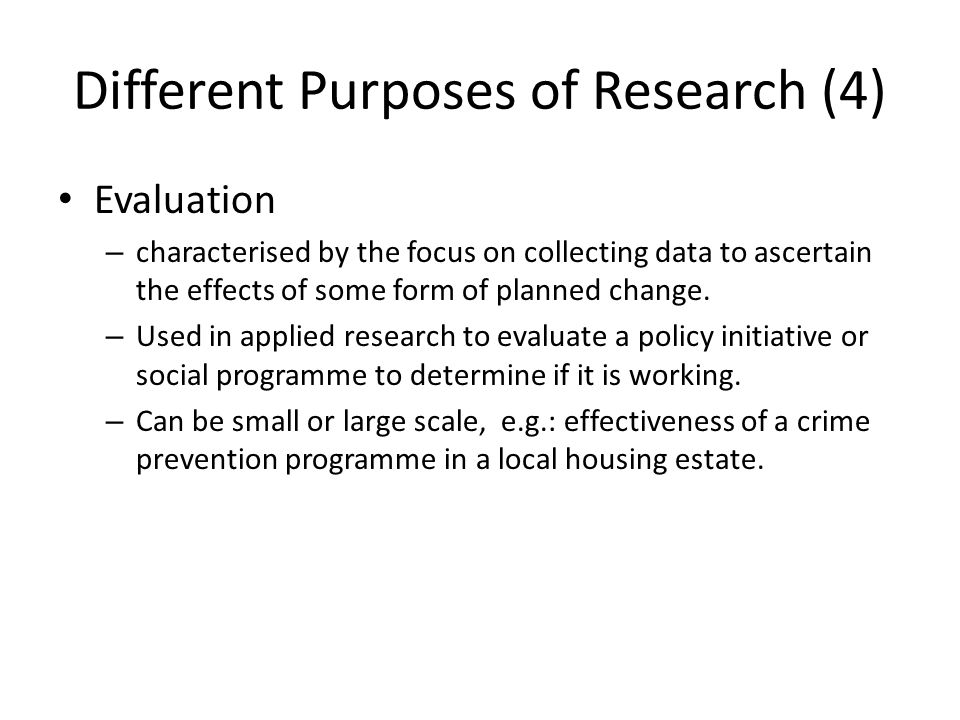 Different Purposes of Research (4)