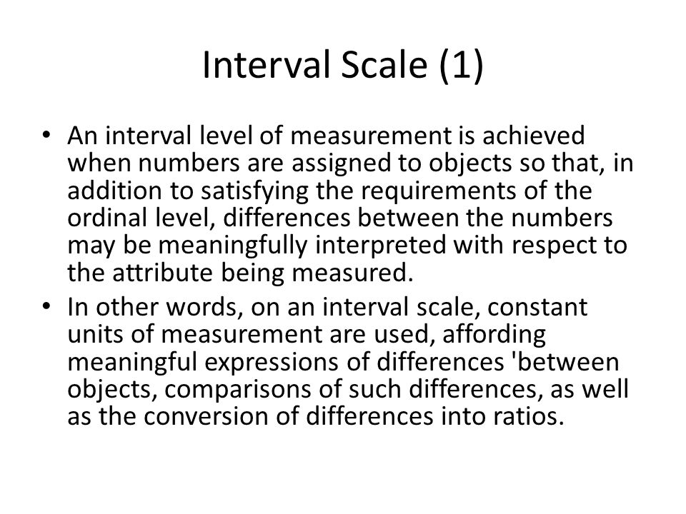 Interval Scale (1)