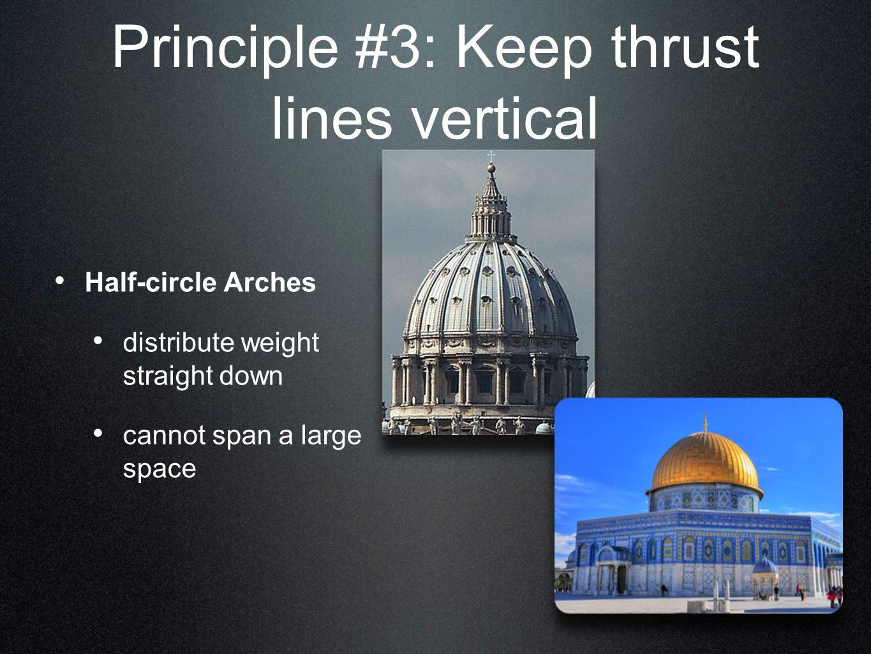 Principle #3: Keep thrust lines vertical
