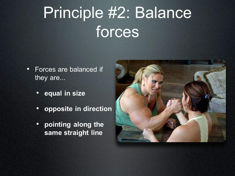 Principle #2: Balance forces