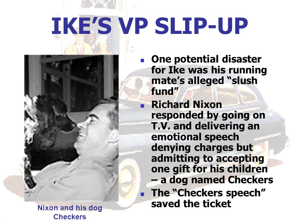Nixon and his dog Checkers