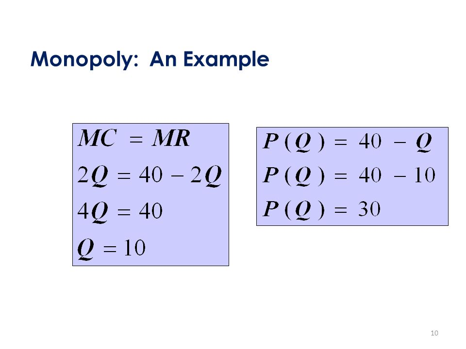 Monopoly: An Example