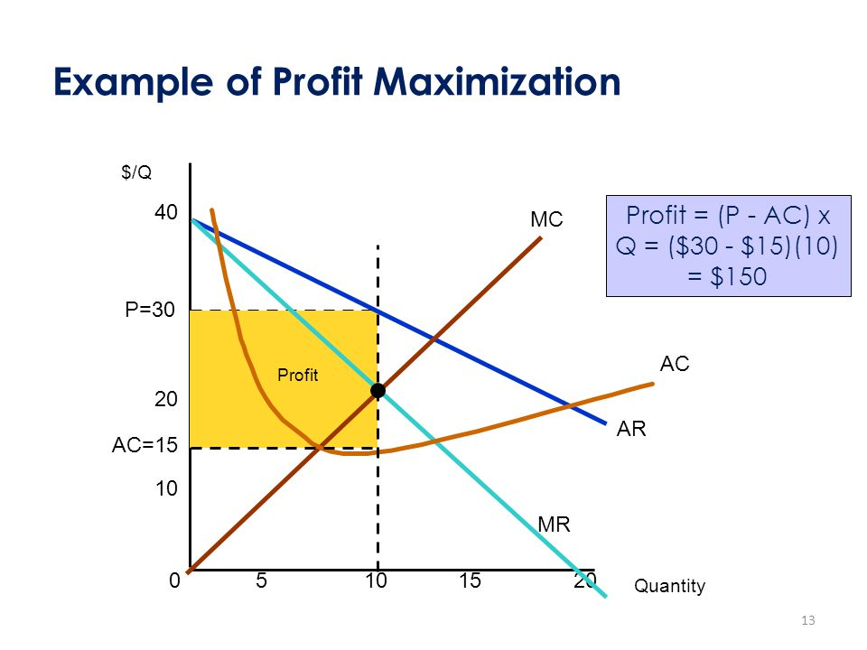 Example of Profit Maximization
