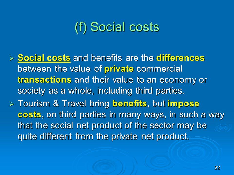 (f) Social costs