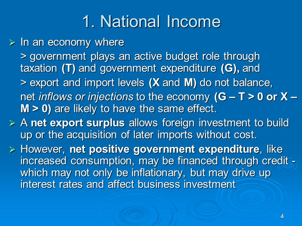 1. National Income In an economy where
