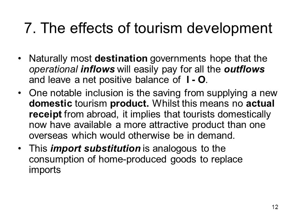 7. The effects of tourism development