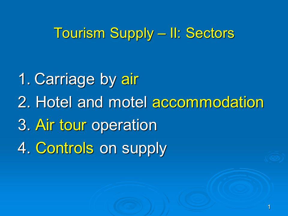 Tourism Supply – II: Sectors