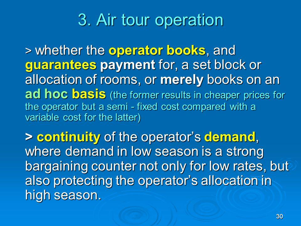 3. Air tour operation