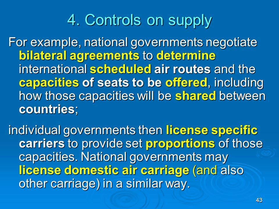 4. Controls on supply