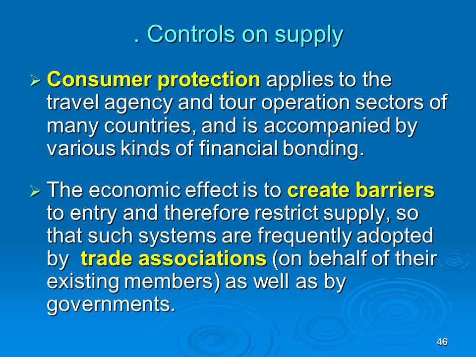 . Controls on supply