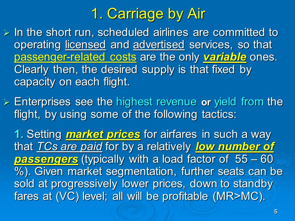 1. Carriage by Air