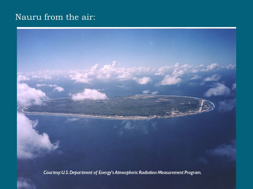Nauru from the air: Courtesy: U.S.