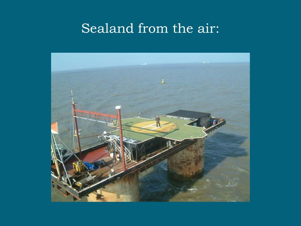 Sealand from the air: