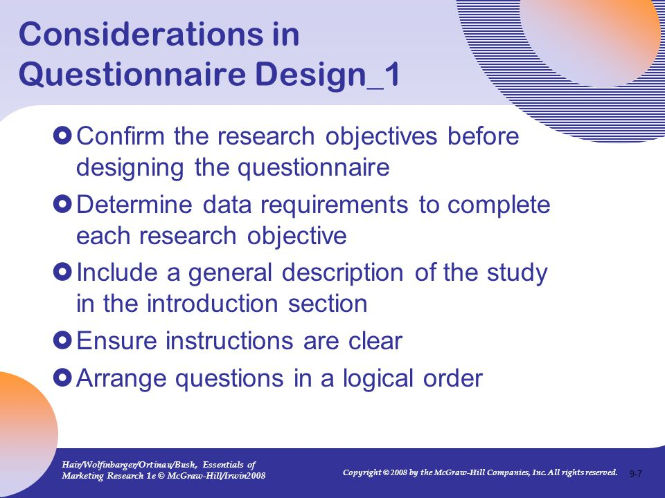 Considerations in Questionnaire Design_1