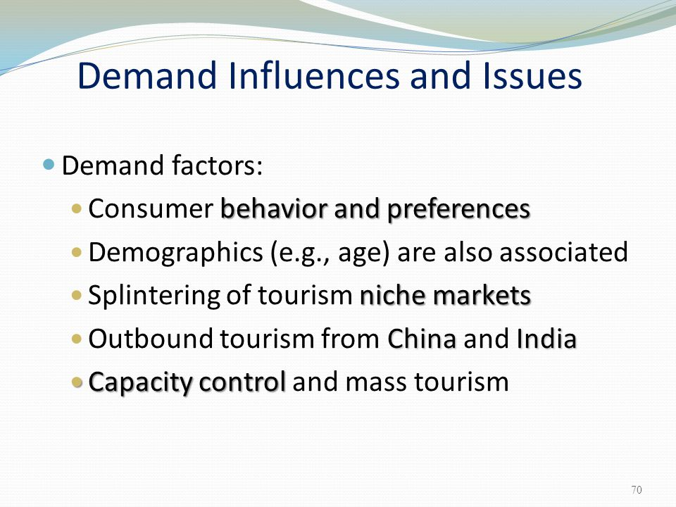 Demand Influences and Issues