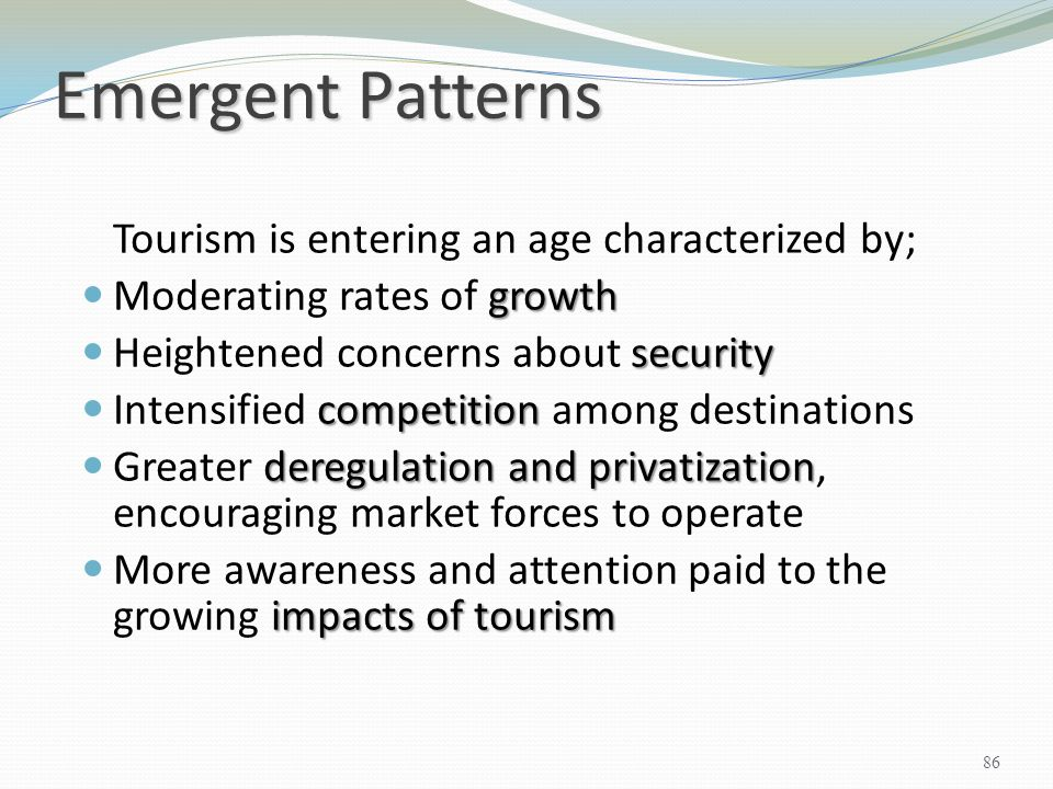 Emergent Patterns Moderating rates of growth