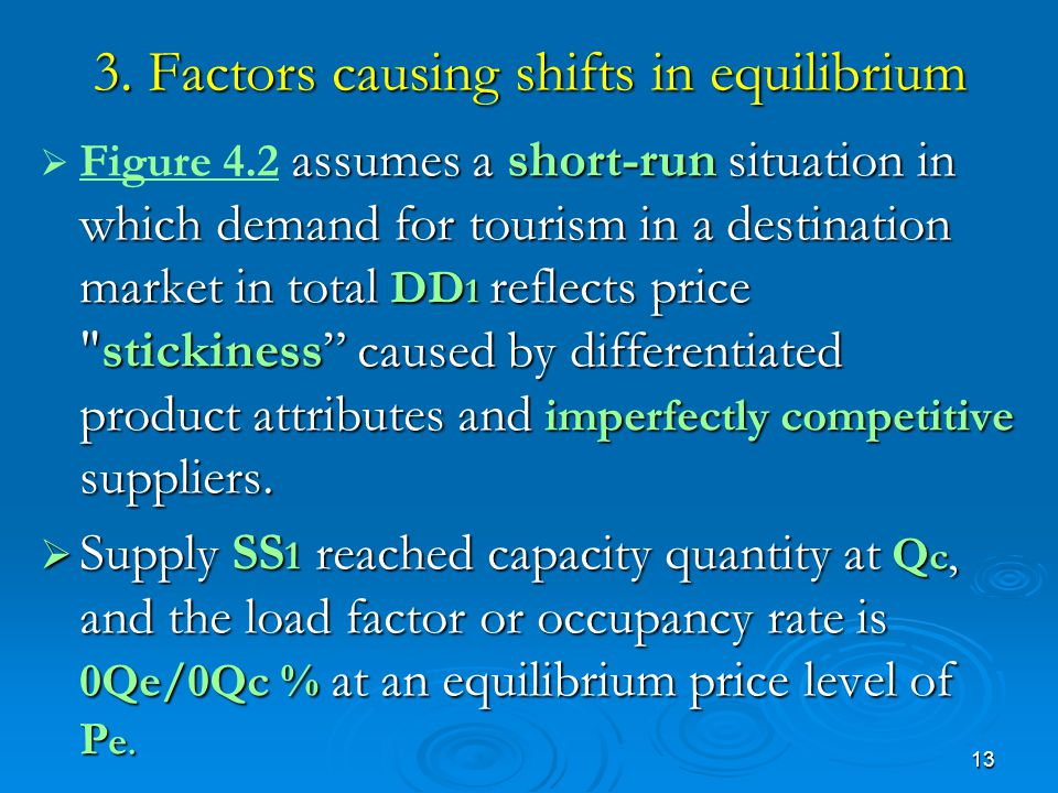3. Factors causing shifts in equilibrium