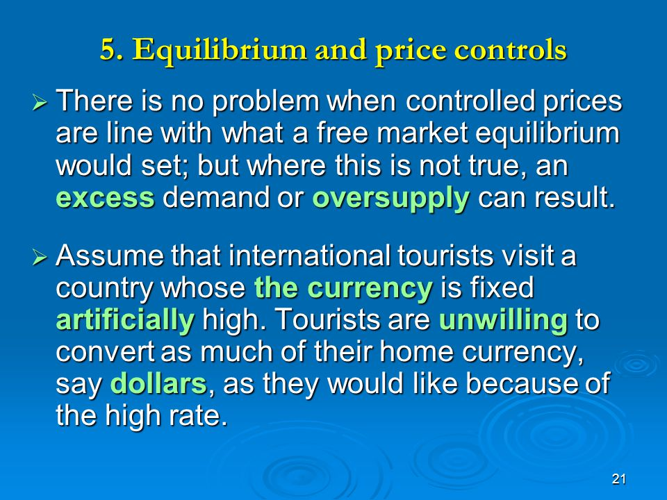 5. Equilibrium and price controls