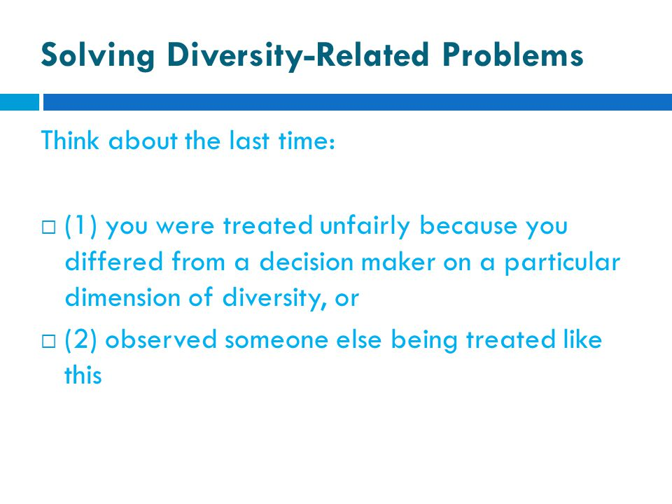 Solving Diversity-Related Problems