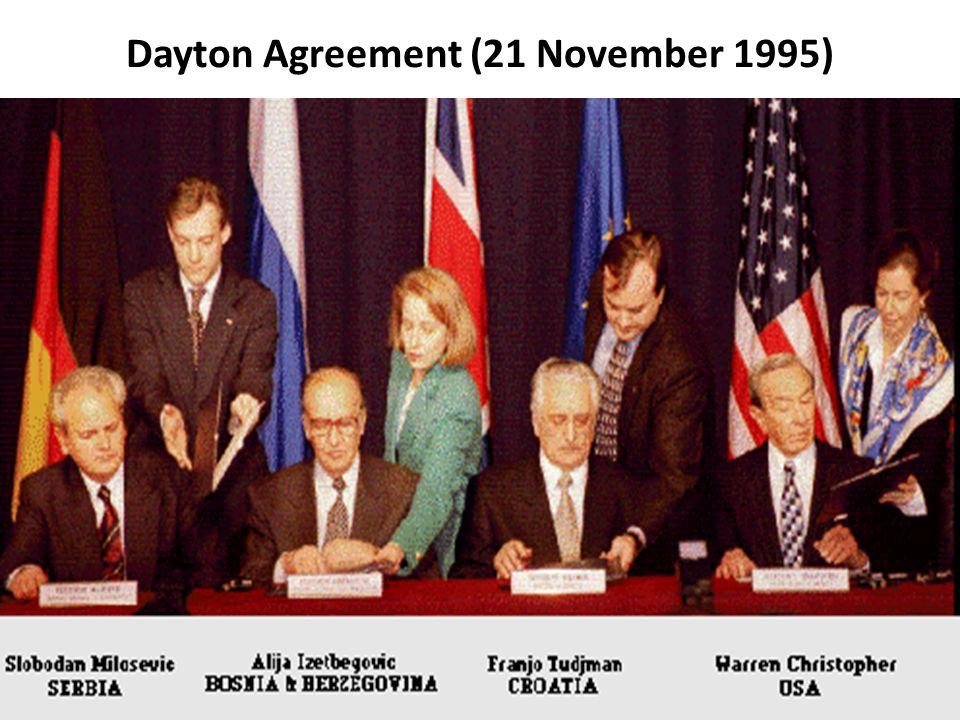 Dayton Agreement (21 November 1995)
