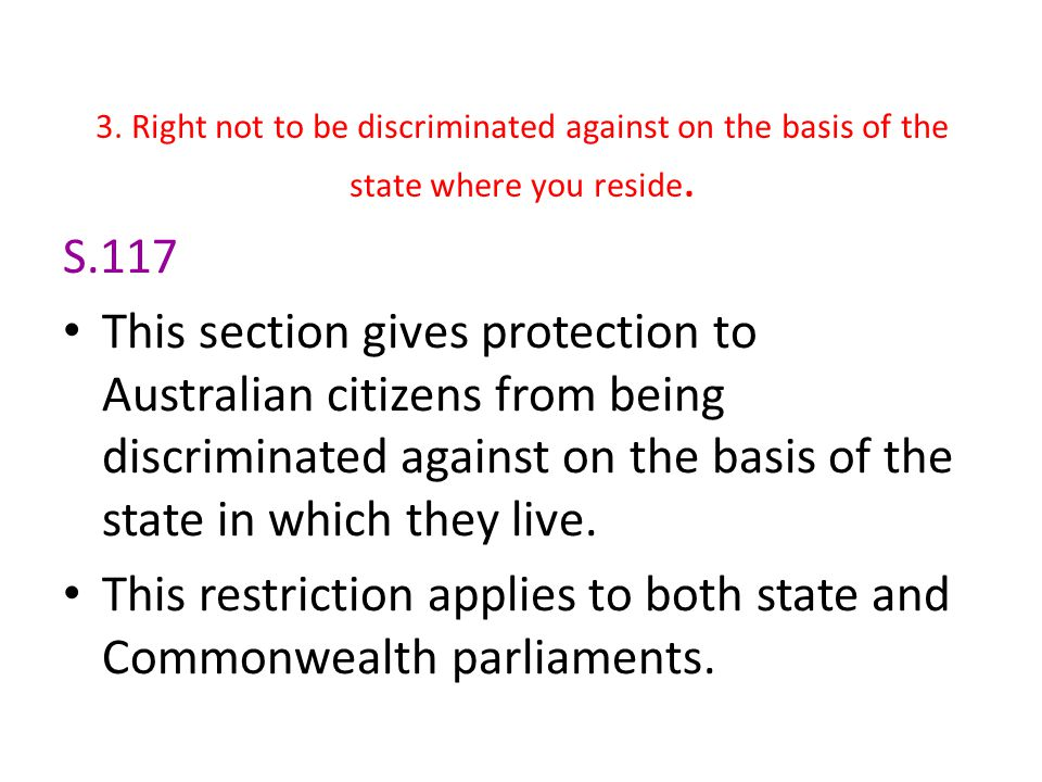 This restriction applies to both state and Commonwealth parliaments.