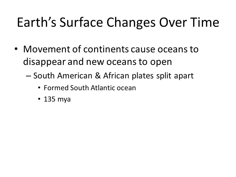 Earth's Surface Changes Over Time