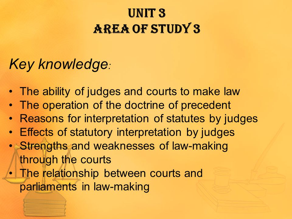 Key knowledge: Unit 3 Area of Study 3