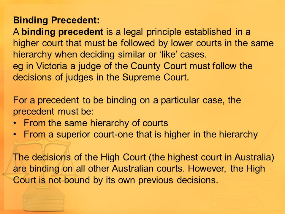 Binding Precedent: