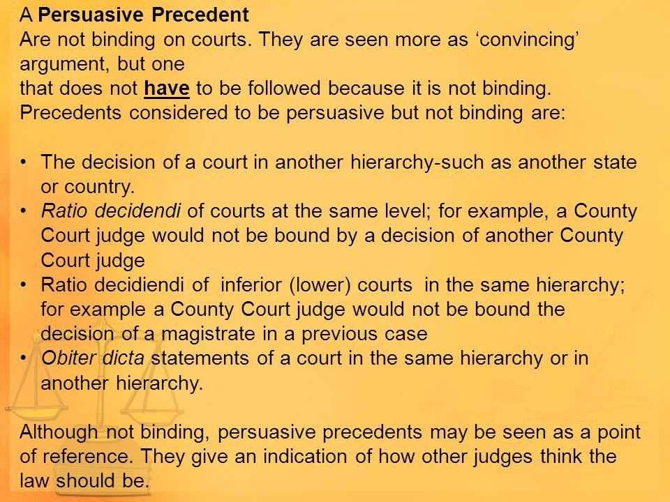 A Persuasive Precedent