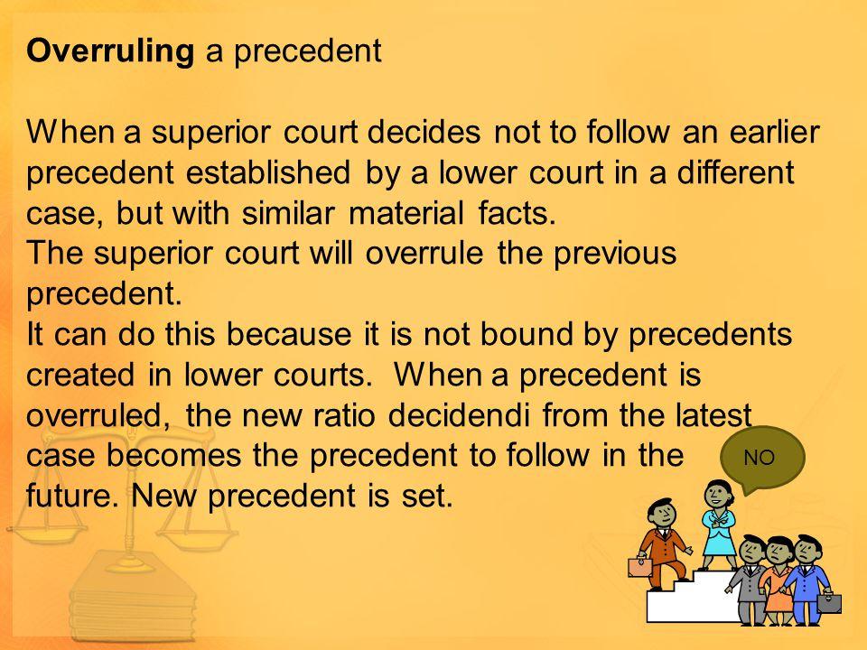 Overruling a precedent