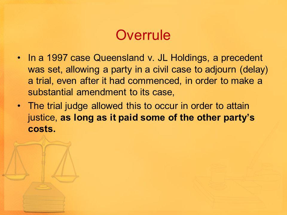Overrule
